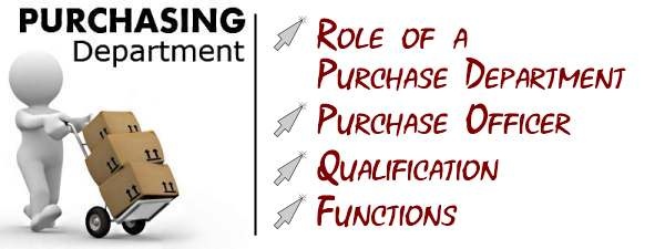 Purchasing Dept. Source: https://accountlearning.com